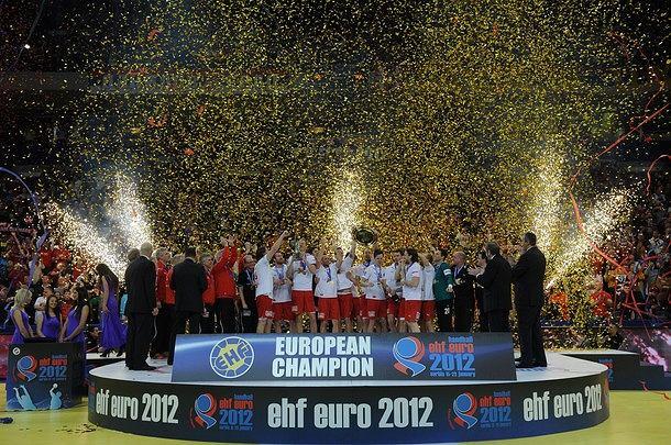 Medaliści mistrzostw Europy piłkarzy ręcznych Serbia 2012. 1. Chorwacja, 2. Serbia, 3. Chorwacja
