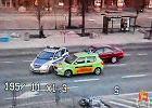 Policyjny po�cig przez centrum miasta. Zobacz wideo