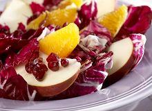 Sałatka owocowa z radicchio - ugotuj
