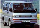 MITSUBISHI L 300, rok produkcji 1989,  widok przedni prawy, samoch�d 5-drzwiowy, kolor fioletowy