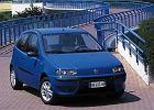 FIAT Punto II 99-04, rok produkcji 2000, coupe, widok przedni prawy, samoch�d 3-drzwiowy, kolor niebieski jasny