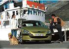 PEUGEOT 307 01-05, rok produkcji 2001, coupe, widok przedni prawy, samochód 5-drzwiowy, kolor złoty