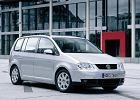 VOLKSWAGEN Touran 03-06, rok produkcji 2002, mpv, widok przedni prawy, samoch�d 5-drzwiowy, kolor silver grey