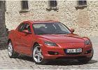 MAZDA RX-8 03-10, rok produkcji 2003, coupe, widok przedni prawy, samoch�d 5-drzwiowy, kolor czerwony jasny