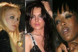 Britney Spears, Lindsay Lohan, Naomi Campbell.
