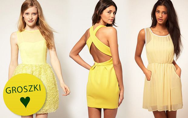 92fa6347da Żółte sukienki - hit na wiosnę!