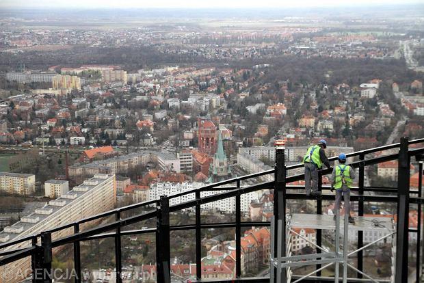 Sky Tower Wroclaw Wrocław ze Sky Tower