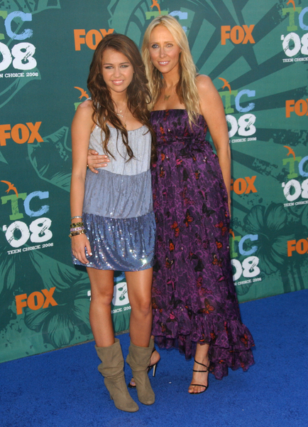 08/03/2008 - Miley Cyrus with mother - 2008 Teen Choice Awards - Arrivals - Gibson Amphitheater - Universal City, CA. USA - Keywords: Miley Cyrus with mother - False -  - Photo Credit: Albert L. Ortega / PR Photos - Contact (1-866-551-7827)