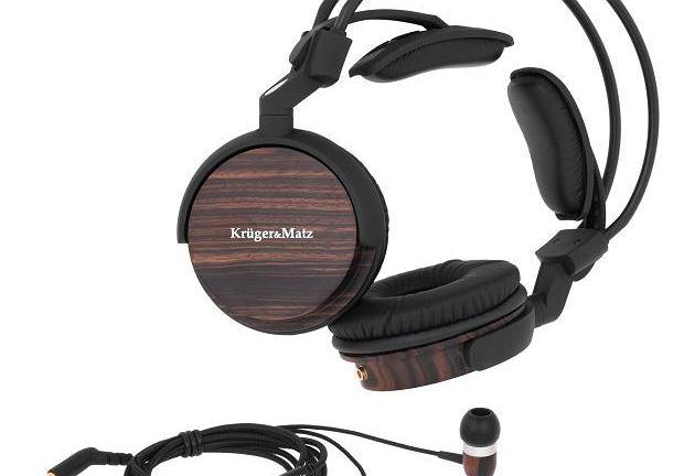 Drewniane słuchawki Krüger&Matz KM0880EB. Cena: 229 zł