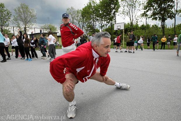 13.05.2011, burmistrz Ko�skich Micha� Cichocki podczas imprezy Polska Biega