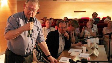 Adam Michnik, redaktor naczelny Gazety Wyborczej, był jednym z uczestników dyskusji w olsztyńskim Planetarium