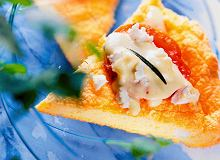 Omlet z kozim serem - ugotuj