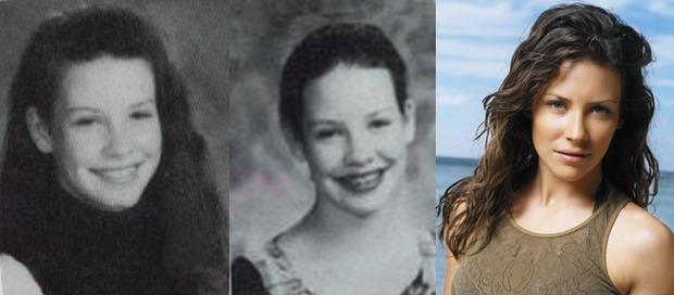 Evangeline Lilly de pequeña