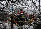 Miejsce katastrofy: Wrak �mig�owca znalaz�o dw�ch ch�opc�w