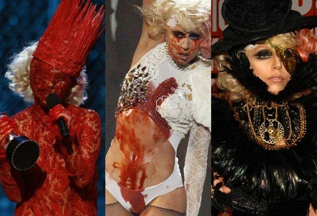 Tak wyglądały stroje GaGi na gali MTV Video Music Awards 2009. Wśród wielu gwiazd, które zjawiły się na imprezie była między innymi Lady GaGa, która odebrała nagrodę, wystąpiła i szokowała swoimi strojami. Zobaczcie sami, jak wyglądała podczas ceremonii. Warto!