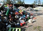 Plastikowe odpady na �mietnisku przy Marywislkiej