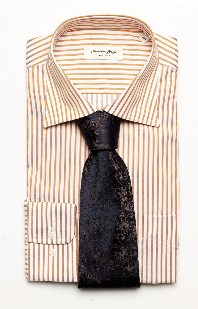 koszula, Christian Berg, bawełna, rozmiary: 39-46, 199 zł, CUTAWAY krawat, Wólczanka, jedwab, 99 zł