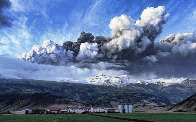 Chmura pyłu wulkanicznego