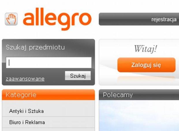Strona g��wna serwisu aukcyjnego Allegro