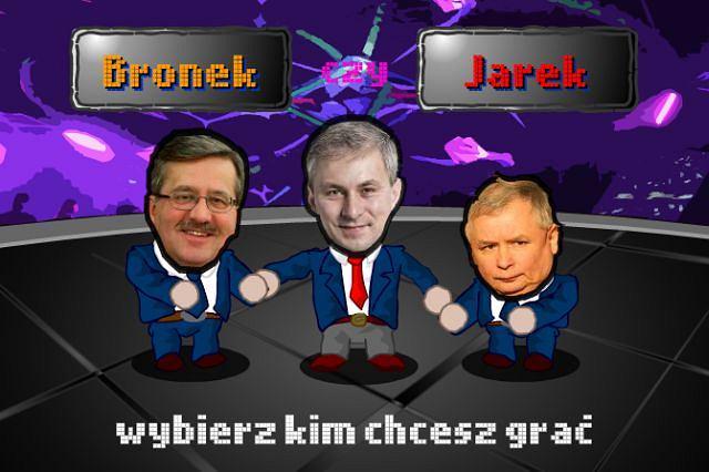 Gra ''Przeciągnij Grzesia'' na Facebooku Fot. http://apps.facebook.com/przeciagnijgrzesia/