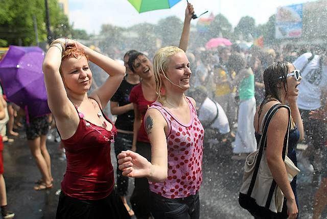 Uczestniczki warszawskiej Europride