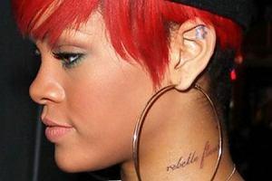 Rihanna ma nowy tatua� - na szyi