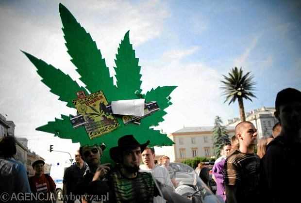 Marsz zwolennik�w legalizacji marihuany w Warszawie