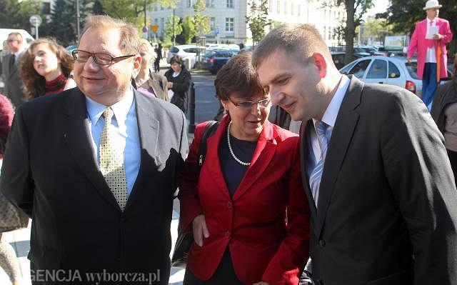 Ryszard Kalisz, Joanna Kluzik-Rostkowska i Bartosz Arłukowicz