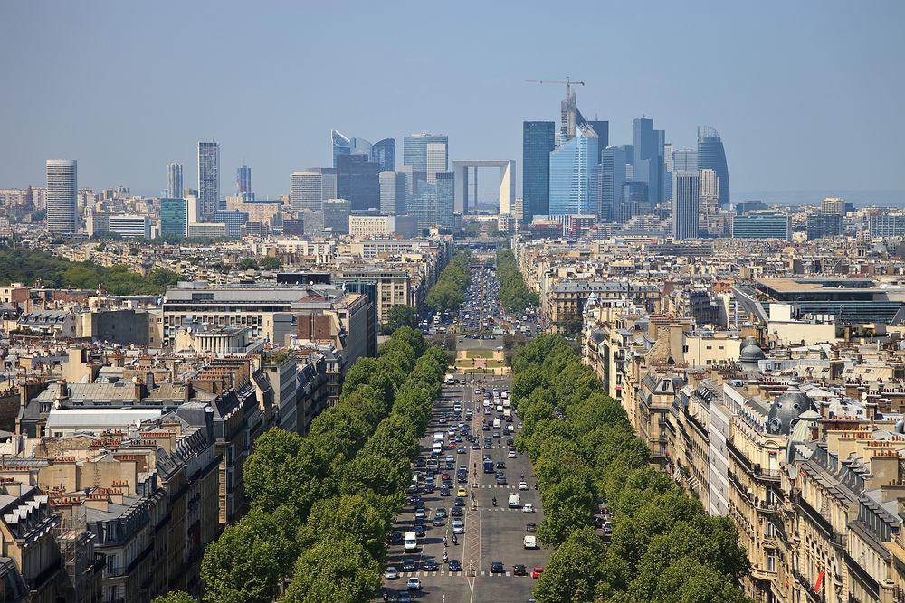 Paryż wycieczki, Pola Elizejskie