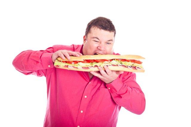 jedzenie, kanapka, grubas, wyżywienie