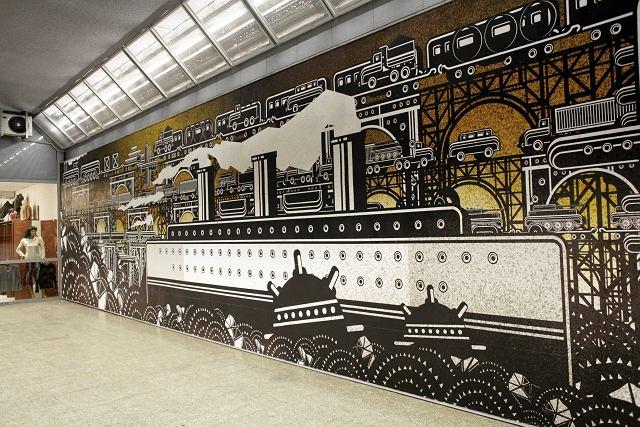 Pi kna wojna na stacji metra zobacz nowy mural zdj cie nr 2 for Mural ursynow