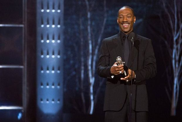 """Eddie Murphy appears onstage at the """"The Comedy Awards? presented by Comedy Central in New York, Saturday, March 26, 2011. (AP Photo/Charles Sykes)"""
