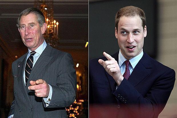 Książę Karol i książę William - pierwsi w kolejce do tronu.