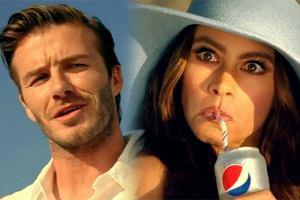 Sofia Vergara i David Beckham w zabawnej reklamie Pepsi