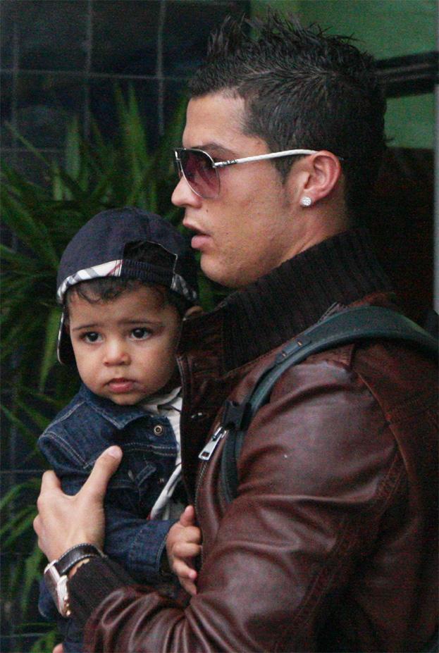 Cristiano Ronaldo z synkiem
