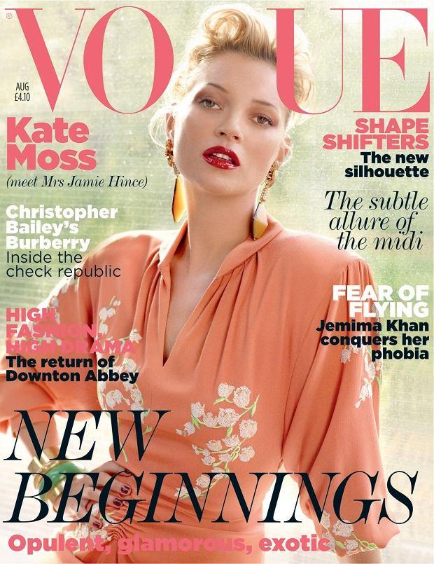 Zdjęcie numer 2 w galerii - Kate Moss na okładce Vogue UK