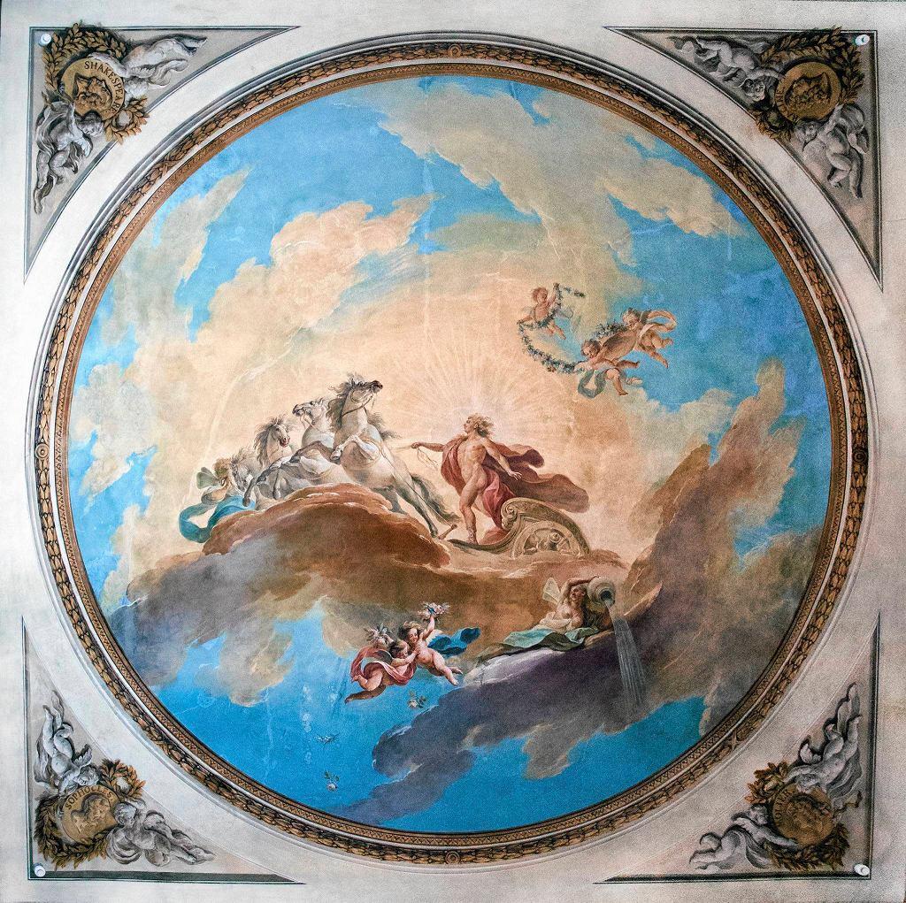 Plafon Apollo na kwadrydze, 1787-1788, Teatr Królewski w Starej Oranżerii w Łazienkach Królewskich / MATERIAŁY PRASOWE