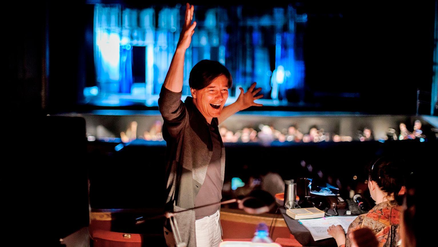 Mariusz Treliński w trakcie prób do opery 'Ognisty anioł' w warszawskim Teatrze Wielkim - Operze Narodowej