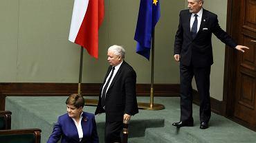 Beata Szydło, Jarosław Kaczyński i Antoni Macierewicz