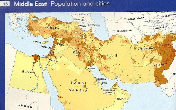 Izrael wymazany z mapy...