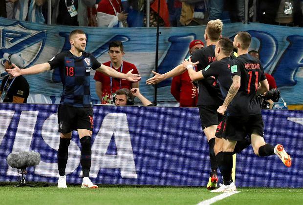 Ante Rebic po zdobyciu bramki w meczu Argentyna-Chorwacja
