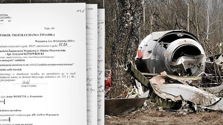 Stenogramy z wieży kontrolnej i wrak polskiego tupolewa w Smoleńsku
