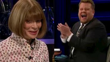Nagranie 'The Late Late Show with James Corden' z Anną Wintour