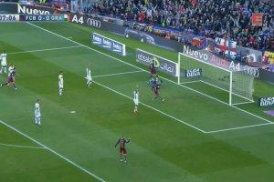 """Primera Division. """"Neymar, s�upek, dobitka i gol!"""". Zobacz hat-trick Messiego w meczu z Granad� [ELEVEN SPORTS NETWORK]"""