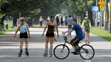 Rolkarze i rowerzyści