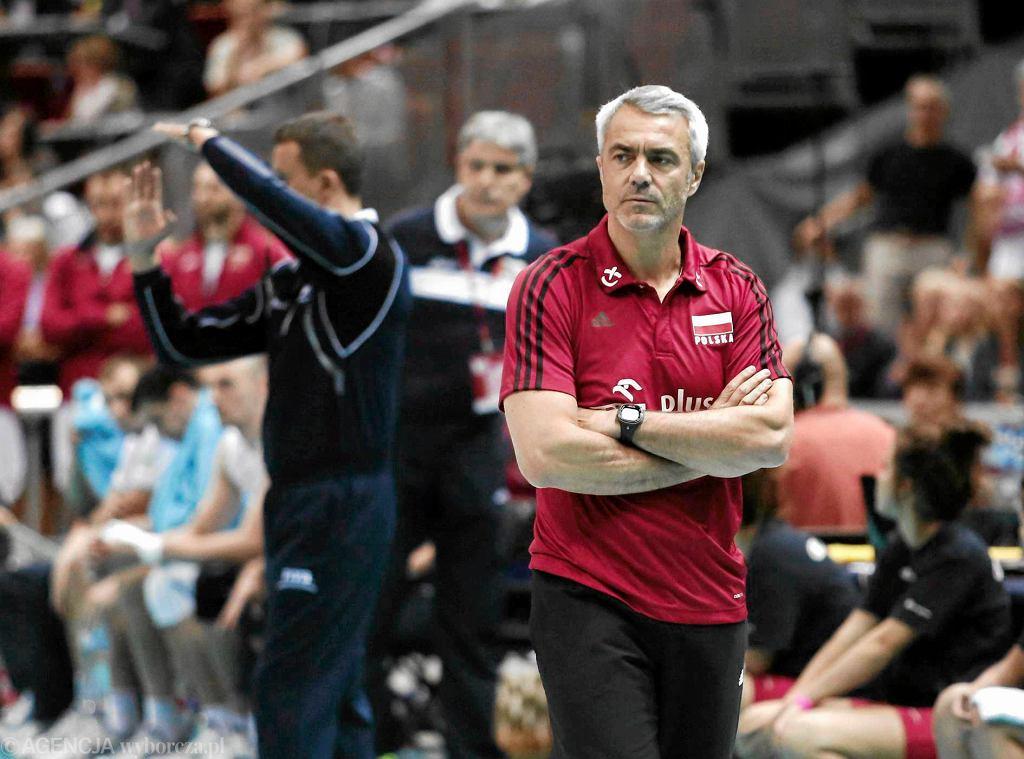 Andrea Anastasi podczas meczu Polska - Bułgaria 2:3