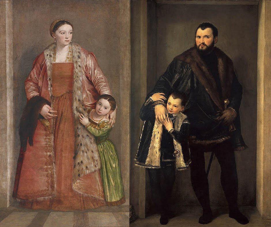 Paolo Veronese, hrabia Iseppo da Porto / hrabina Livia da Porto Thiene, ok. 1552.  / Wystawa 'High Society', Amsterdam Rijksmuseum