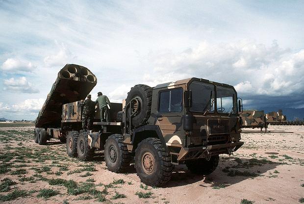 Amerykańska wyrzutnia rakiet BGM-109G Gryphon, to lądowa wersja tomahawków. Przed podpisaniem INF zdążono rozmieścić w Europie około 400 rakiet