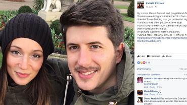 Gloria Trevisan Marco Gottardi zginęli w pożarze w Londynie