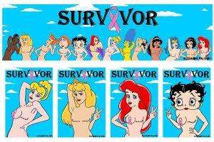 Arielka i Wonder Woman po mastektomii. Te okrutne rysunki to cz�� kampanii spo�ecznej [ZDJ�CIA]